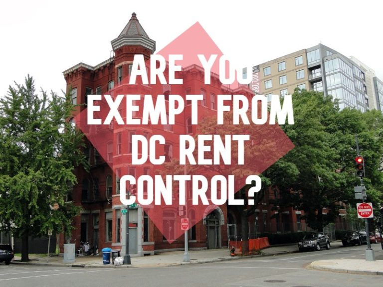 DC Rent Control Exemptions