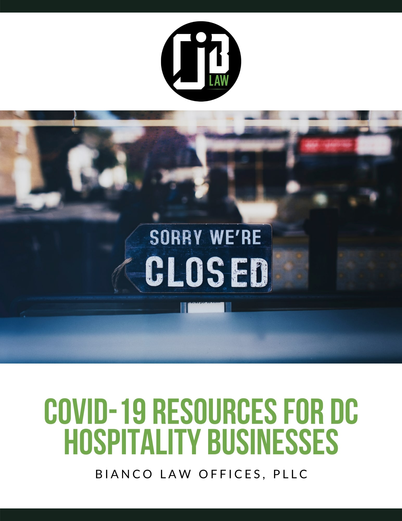 COVID-19 Assistance Guide For DC Bars & Restaurants